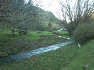 A little river flows through the lower part of the estate